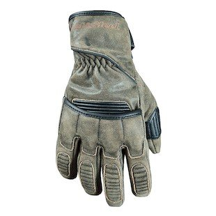 STREET & STEEL Scrambler Leather Motorcycle Gloves - XL, Olive