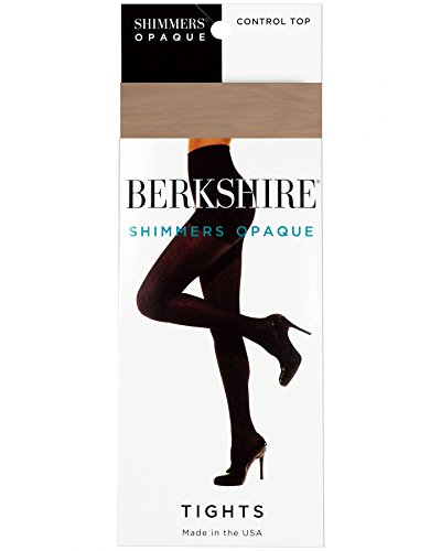 Nude Shimmer - Berkshire Women's Shimmer Opaque Control Top Tights, Nude, 3X-4X