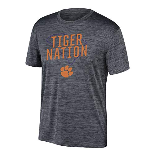 - Top of the World NCAA Men's Clemson Tigers Poly Space Dye Invader Tee Black X Large