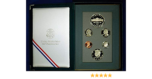 1997 US Mint Proof Set Beautiful GEM Coins With Box and COA