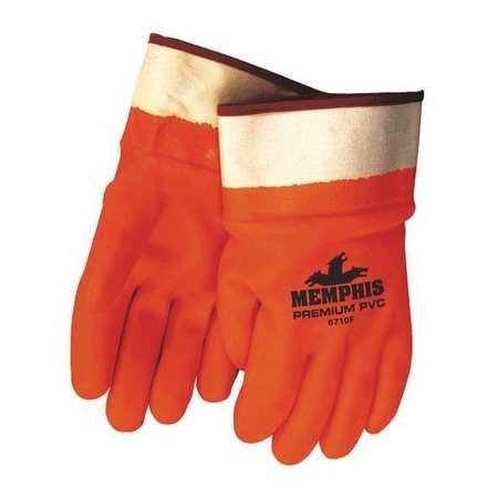 Chemical Resistant Gloves, PVC, L, 11-1/2''L