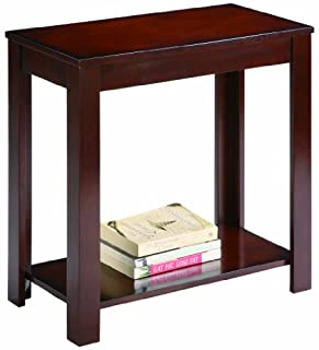 Crown Mark 7710 Pierce Chairside Table, Espresso (B004494A1S) | Amazon Products