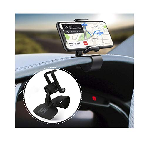 Happy Memories Universal Dashboard Car Phone Holder Easy Clip Mount Stand Car Phone Holder GPS Display Bracket Classic Black Car Holder Support