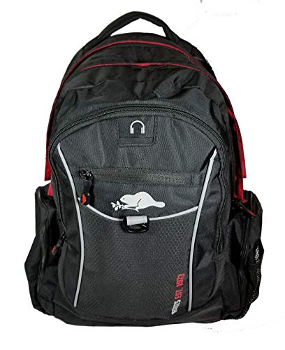Roots 73 - Durable 17.3-inch Laptop and Tablet Backpack with Zippered Cable Pockets (Black/Red) by Roots 73