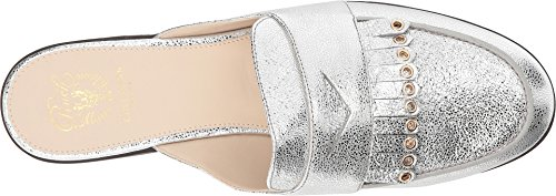 Cole Haan Womens Pinch Kiltie Slide Argento Crackle In Pelle Metallizzata