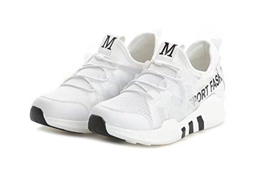 ohne Markenname LA Nago DamenschuheKeilabsatz Sneaker Bequem Freizeit Fitness Gym Laufschuhe Weiß02