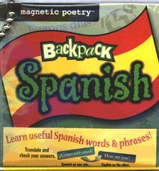 Magnetic Poetry Spanish - Magnetic Poetry Backpack Spanish