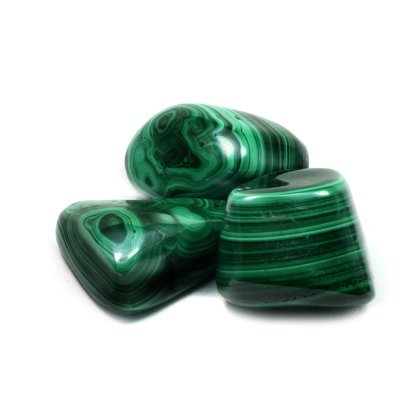 CrystalAge Malachite Tumble Stone (Large Malachite)