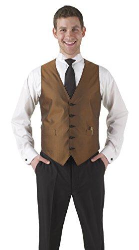 Averill's Sharper Uniforms Men's Banquet Elegant Print Apex Vest Large Copper