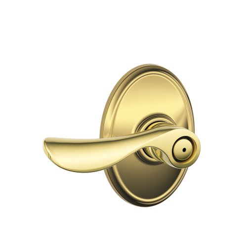 - Schlage F40 CHP 605 WKF Wakefield Collection Champagne Privacy Lever, Bright Brass
