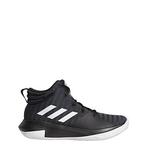 adidas Unisex Pro Elevate 2018 Basketball Shoe White/Black, 6.5 M US Big Kid