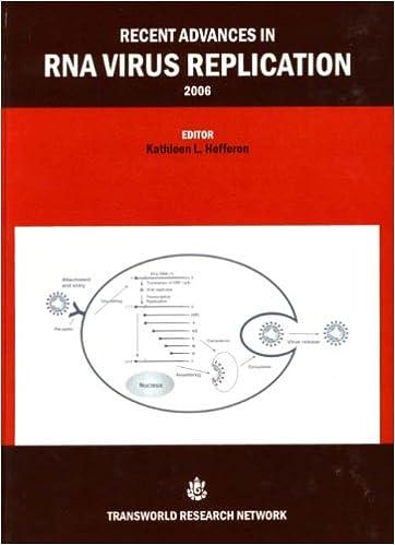 Recent Advances in RNA Virus Replication 2006 1st Edition