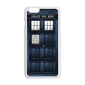 SKULL Blue police box Cell Phone Case for Iphone 6 Plus