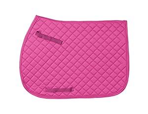 JT International Quilted Square English Saddle Pad Pink