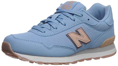 New Balance Girls' 515v1 Sneaker Running Shoe, SUMMER SKY/WHITE OAK, 7 W US Big Kid