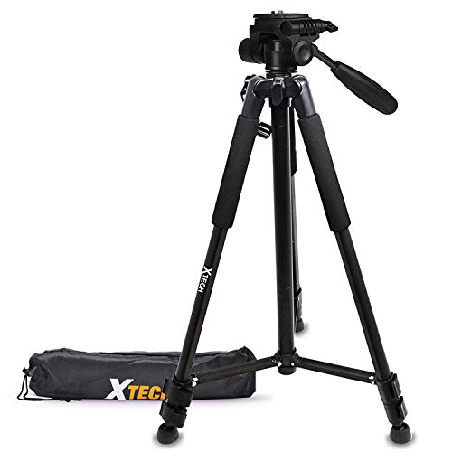 Xtech Pro Series 72' inch Tripod with Carrying Case, 3 Way Pan-Head, for Canon Powershot G5 X, G9 X, G3 X, SX410 is, SX530 HS, SX60 HS, G7 X, D30, SX520 HS, SX400 is, G1 X Mark II, SX700 HS ()