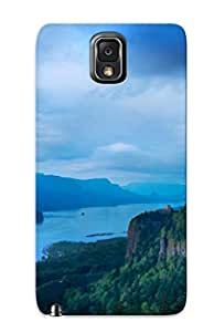 Anti-scratch And Shatterproof Night, Mountain, Forest Phone Case For Galaxy Note 3/ High Quality Tpu Case