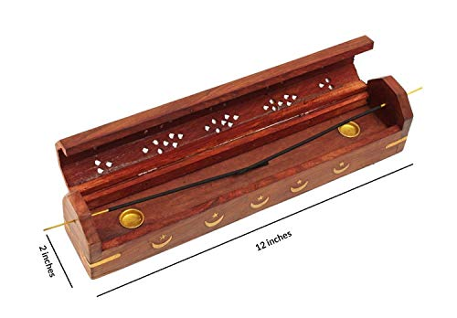 12 by Burnies 1 Celestial Coffin Incense Burner Green