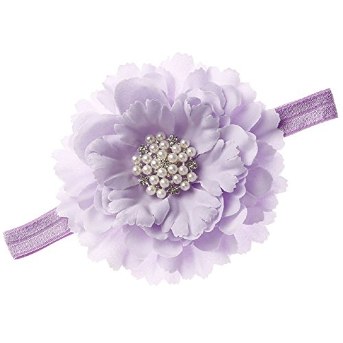 Lilac Baby Girl (Floral Fall Baby Girls Crystal Peony flower Crown Headbands Hair Bands BY-31 (Lilac))