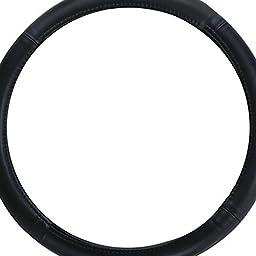 Pilot SW-101 Genuine Black Leather Steering Wheel Cover