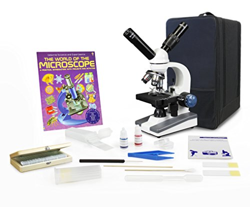Parco Scientific Dual View Elementary Level Microscope, Mechanical Stage, Rechargeable, Microscope Book, Microscope Discovery Kit, 50 Prepared Slides Set, Carrying Case, Free Gift Package ($20 Value) by Parco Scientific