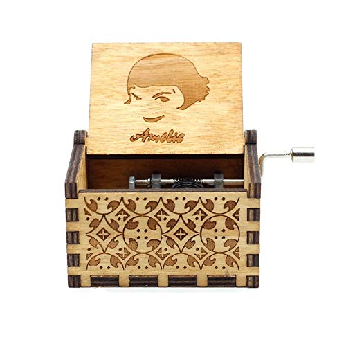 VDV Music Box - Creative Antiques, Carved Wooden Games, Musical Box, Beauty and Wild Animals, New Year Gifts, Birthday -