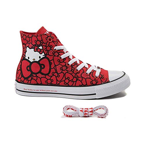 - Converse Chuck Taylor All Star Lo Hello Kitty (Mens 6/Womens 8, Red 9619)
