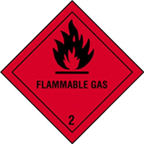 Flammable Gas300x300 mm Juego 4 Etiquetas de Se/ñalizaci/ón IMDG-ADR Clase 2.1