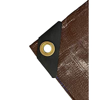 10 Ft. X 20 Ft. Super Heavy Duty 8 Oz. Brown Tarp - 16 Mil Thick