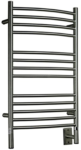 Amba Jeeves CCB-20 Brushed C Curved Electric Heated Towel Warmer 20-1/2