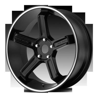 Motegi Racing MR122 Satin Black with Machined Stripe Wheel with Machined Finish (20.00x9.50
