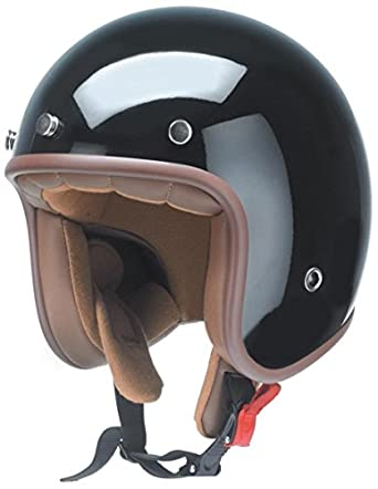 GZM rb-766/2XL - Casco jet homologado (interior de color marrón)
