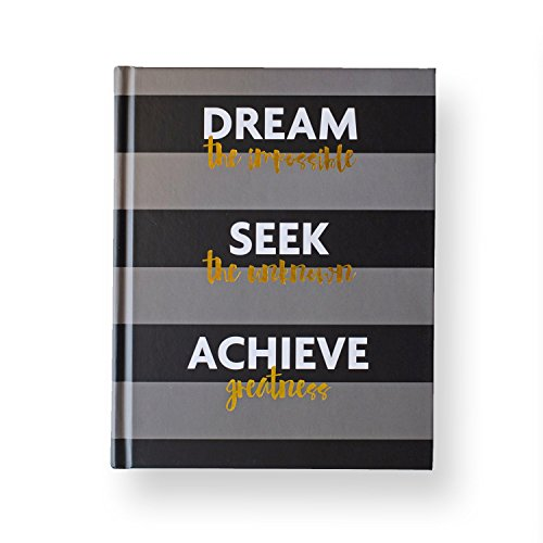 Fitlosophy Fitspiration Dream Seek Achieve 16 Guided Week Fitness and Gratitude Journal, 8 W x 6.5 L