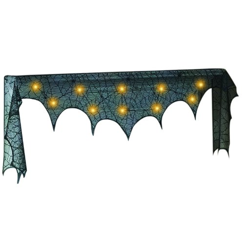 Black Lace Cobweb Mantle (Interior Design Halloween Costume)