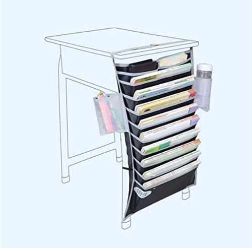 Hanging desk storage bag books bookends organizer black - Hanging desk organizer ...