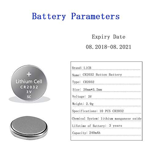 LiCB CR2032 3V Lithium Battery(10-Pack)