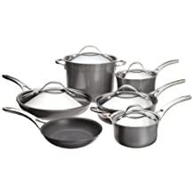 Anolon Nouvelle Copper Hard Anodized Nonstick 11-Piece Cookware Set