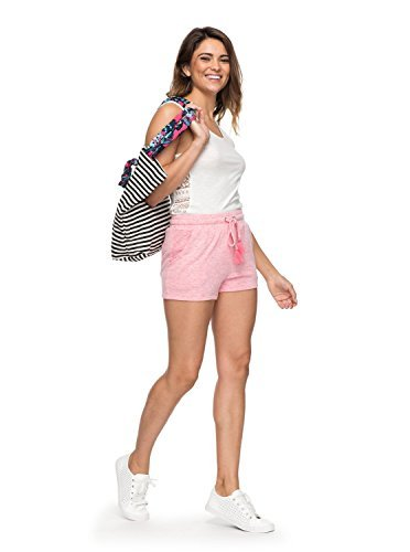 Roxy Womens Cozy Chill - Sweat Shorts - Women - L - Pink Rouge Red Heather L