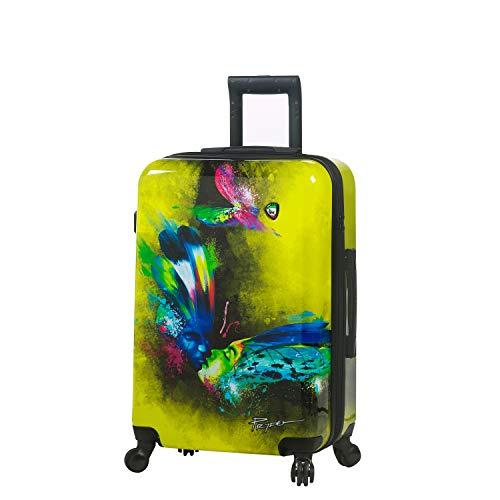 Mia Toro Italy Prado-Butterfly Kiss Hardside 24 Inch Spinner Luggage, Pbk