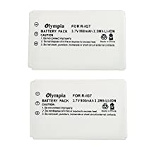 2 Pack R-IG7 Battery for Logitech 720, 850, 880, 885, 890 Pro, H880, 900 and Harmony One Advanced Universal Remote (950mAh 3.7V Li-ion)