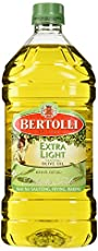 Bertolli extra light tasting olive oil is a mild, light-tasting olive oil that will not overpower delicate foods and is great for baking and high-heat cooking because of its high smoke point. The light refers to its mild, light flavor; not its calori...