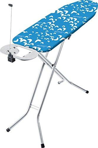 Vileda 14359 Viva Express Eco Bügeltisch blau - 12x38 cm große, dampfdurchlässige Bügelfläche - Anti-Rutsch-Füße für mehr Halt auf glatten Böden