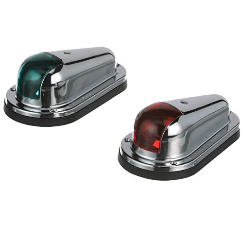 Seachoice 05131 Chrome-Plated Brass Port and Starboard Side Light, 1 Nautical Mile Visibility
