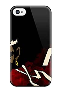 6156226K351771788 afro samurai anime game Anime Pop Culture Hard Plastic iPhone 4/4s cases