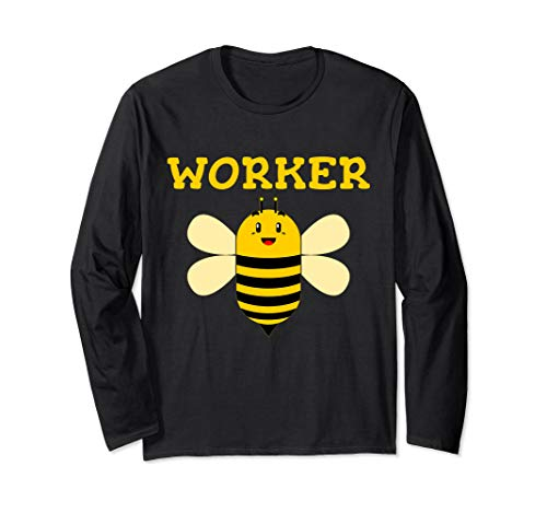 Worker Bee Beekeeping Funny Text Graphic Long Sleeve T Shirt