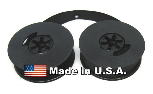 All Black -- Twin Spool -- Universal Portable Typewriter Ribbon