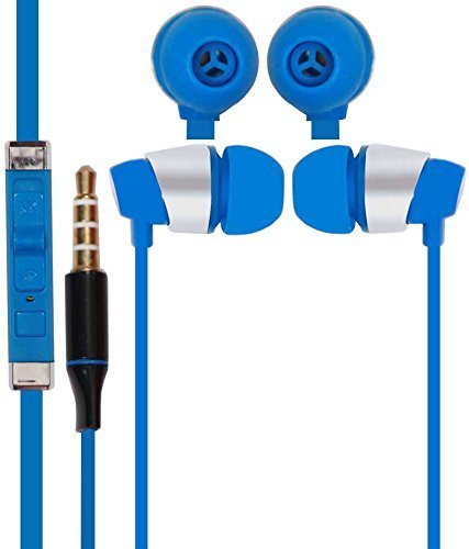 DEEP GLOBAL 3.5mm in Ear Bud Stereo Earphones Mini Size Headset Headphone Handsfree with Mic Handsfree Compatible with Oppo F1