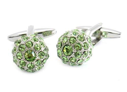 Swarovski Cufflinks Peridot Green Ball Cuff Links