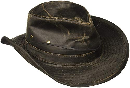Dorfman Pacific Weathered Cotton Outback Hat with Chin Cord  Amazon.in   Clothing   Accessories e2da1aa09ca