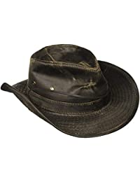 Dorfman Pacific Men's Cotton Outback Hat With Chin Cord